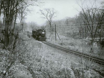Locomotive on the Putnam Line near Elmsford, n.d. (P-78)