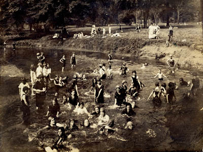 Girls Swimming in the Bronx River, 1917 (PBP-1156)