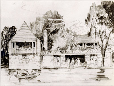 Woodlands Lake Boathouse drawing, 27 February 1931 (PPC-2939)