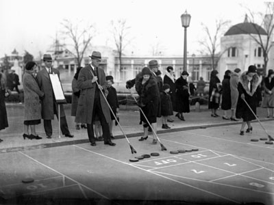 Shuffleboard players at Playland, 1930 (PPL-1221)