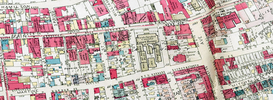 Portion of map of White Plains from 1930 Atlas (Vol 2, pg 24)